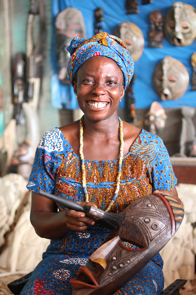 Ernestina Asante is one of Ghana's few female carvers
