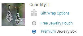 Select the premium jewelry box option during checkout